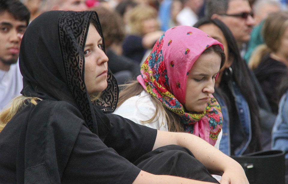women in scarves