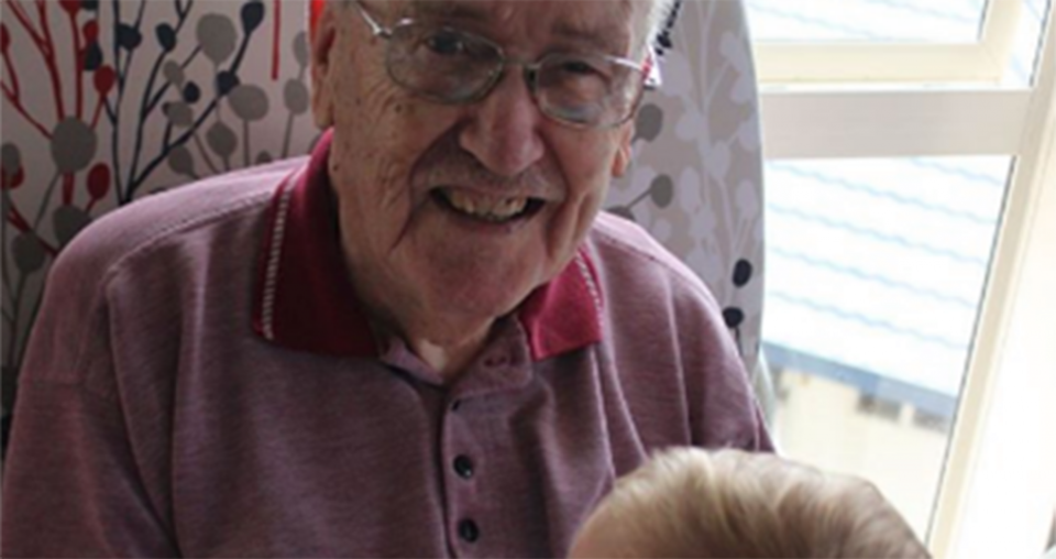 Children keeping elderly young at heart