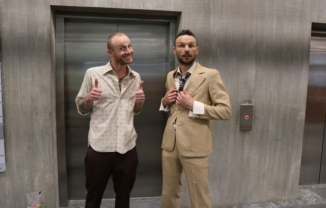 Jono and Ben's elevator ride with a twist