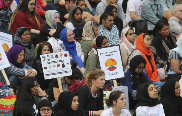 Auckland Domain - the vigil in pictures