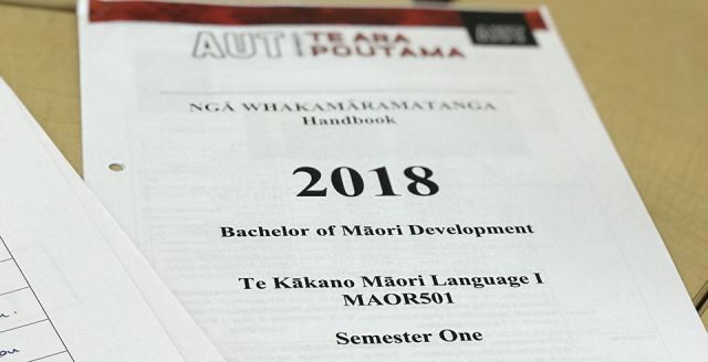 AUT te reo course at capacity