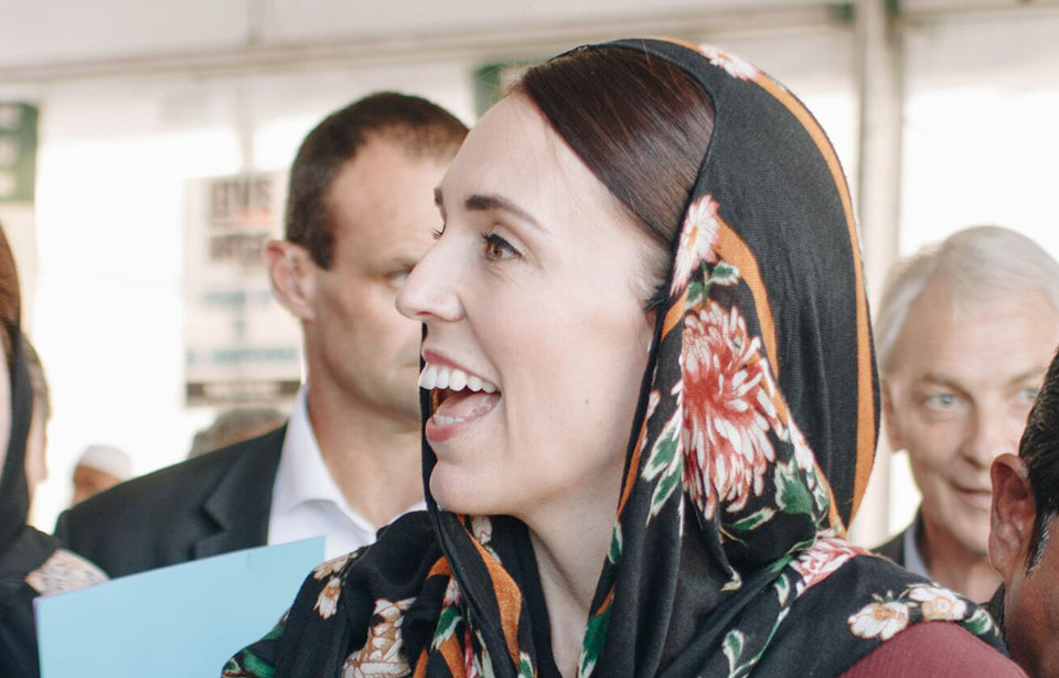 PM smiling