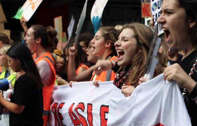 Students' second climate strike fills Auckland's Aotea Square