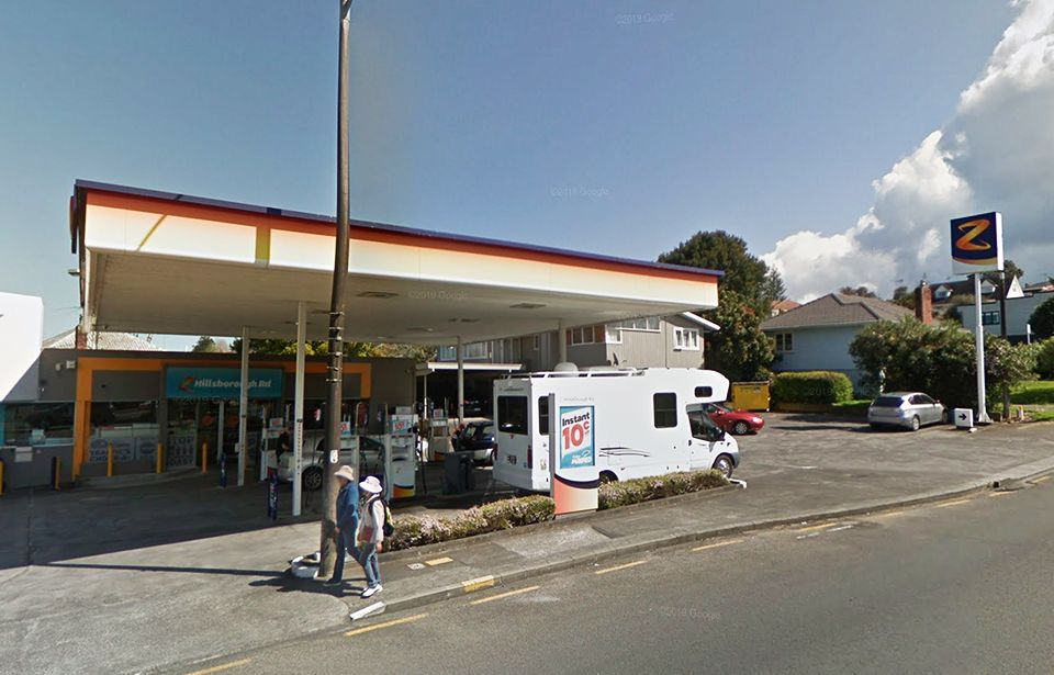 Petrol station purse-snatcher