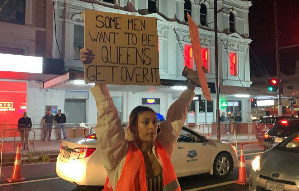 K Road protest calls for safe spaces for Auckland's trans community