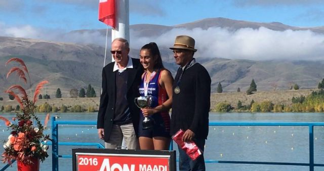Ashburton girl makes rowing history